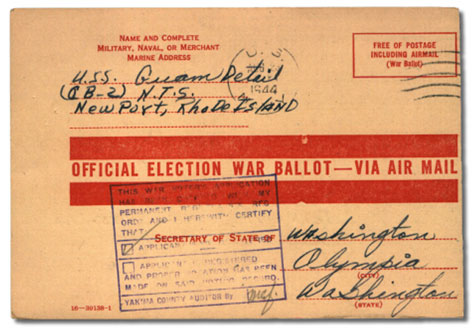 [War Ballot from 1944]